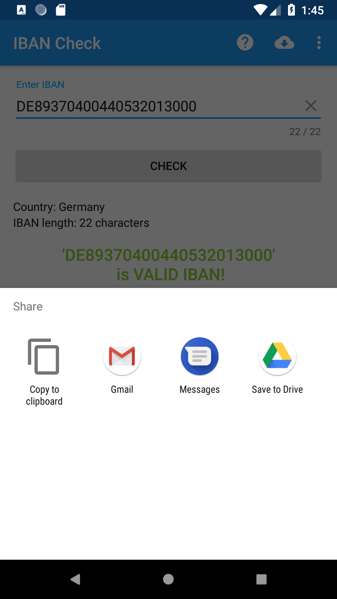 VMSoft » IBAN Check